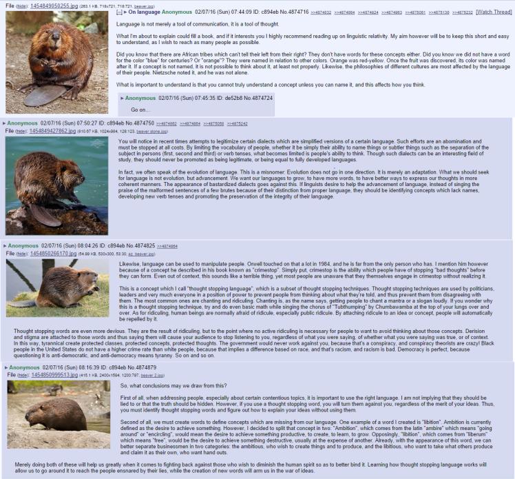 beaver language