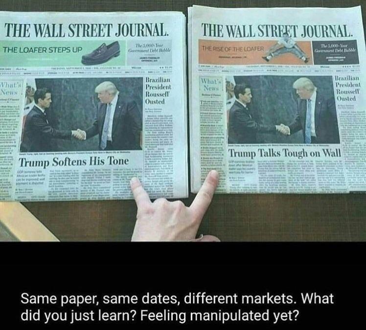 same paper same dates different markets