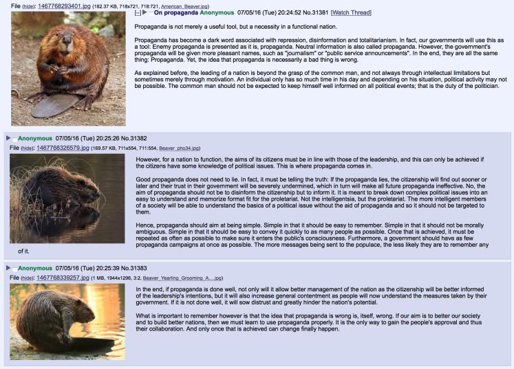 beaver propaganda