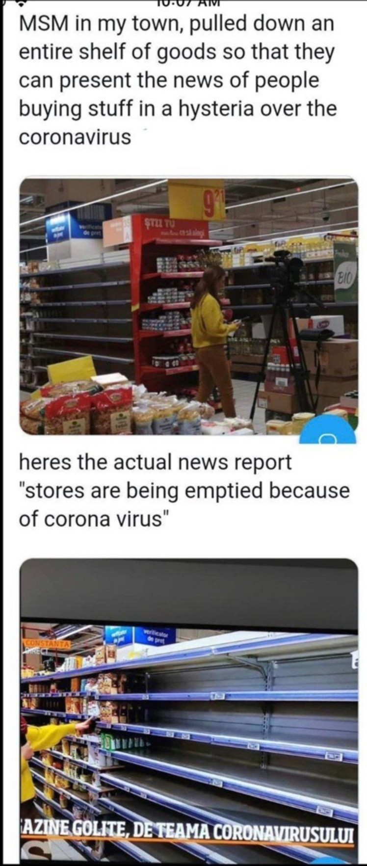 corona shelves